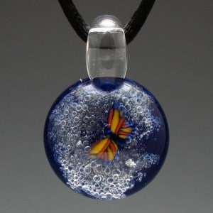 Butterfly cremation jewelry