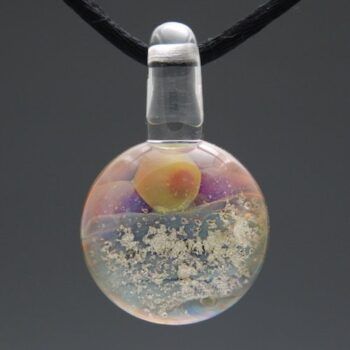 Sunrise Glass Cremation Pendant