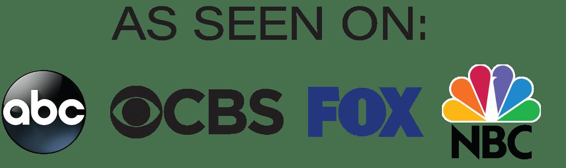 As seen on ABC, Fox, NBC, CBS